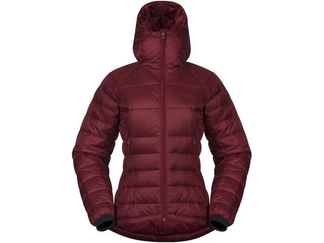 Bergans Slingsby Down Light Jacket w/ Hood Dame bordeaux